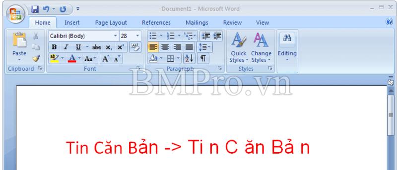 Khắc phục lỗi bàn phím laptop -BMPro