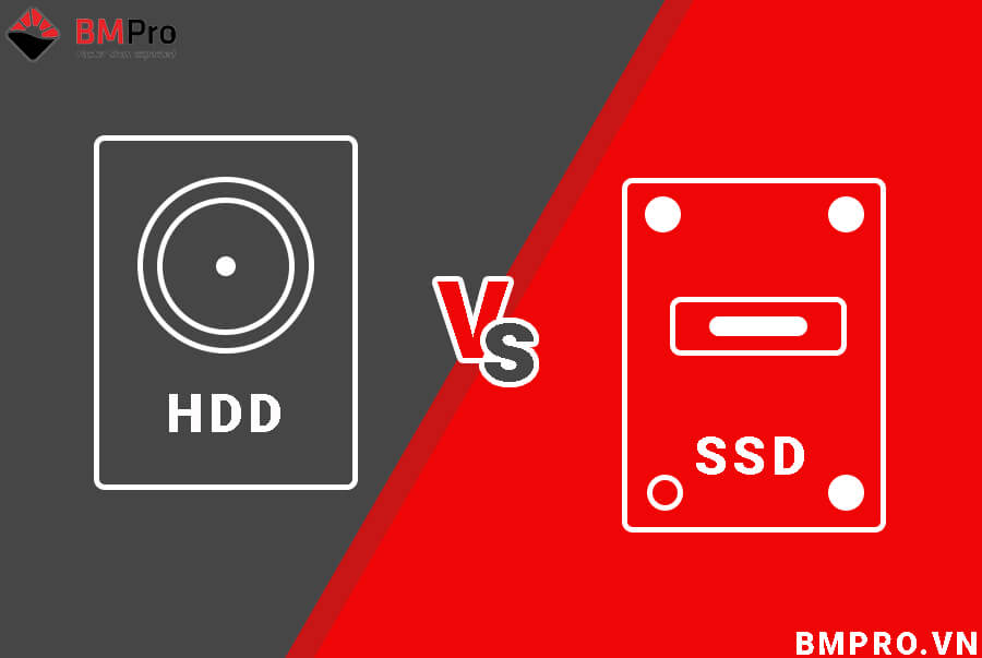 So sánh ổ cứng HDD và SSD | BMPro.vn