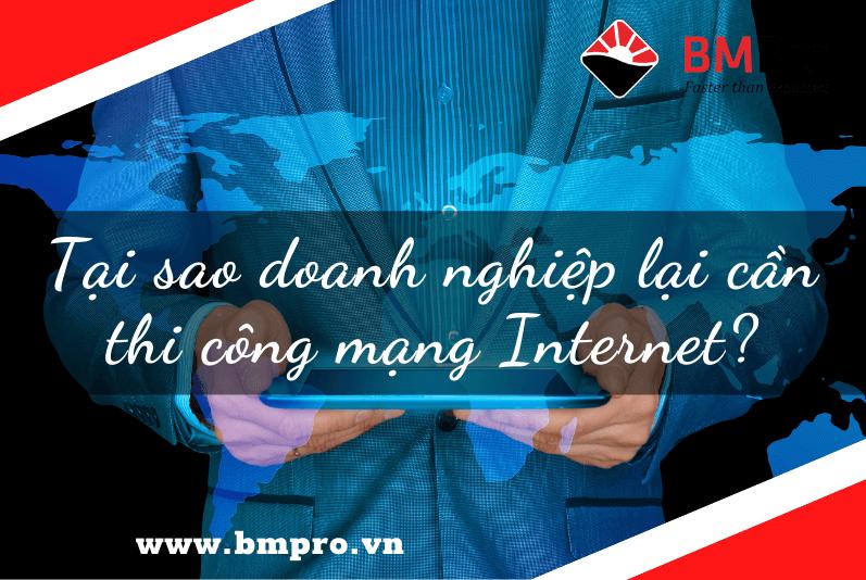 thi công mạng Internet