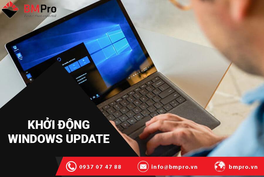Khắc phục lỗi windows bị treo bằng cách khởi động lại dịch vụ Windows Update