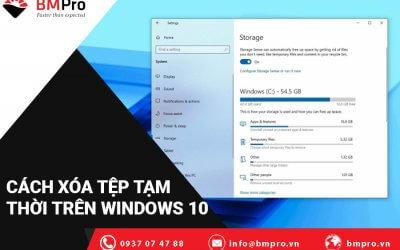 Cách Xóa Tệp Tạm Thời Trên Windows 10